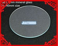 Wholesale watch flat - Wholesale-100pcs 1.5mm Thick Flat Watch Mineral Glass Watch Crystal for Watchmakers Selected Size from 24 to 40mm