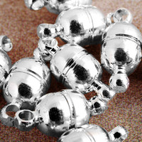 Wholesale 5mm Hook - New arrival Free Shipping Jewelry DIY 100pcs 11*5mm Silver Plated Magnetic Bracelet Necklace Clasp,Jewelry Clasp