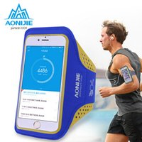 Wholesale Mobile Phone Belt Holders - Wholesale- AONIJIE Screen 4.7 inch Screen 5.5 inch Dirt-resistant Hand Bag Running Arm Band Case For Iphone Mobile Phone Holder Pouch Belt