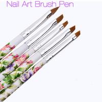 Wholesale Nail Polish Beauty Tips - 5 Pcs Nail Art Decorations Brush Pen Set Tools Painting Pen for False Nail Tips UV Nail Gel Polish Manicure Beauty Gift