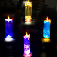 USB Candle Lámparas Vela Rotativa Colorida Recargable LED Night Light Boda Decoración de Navidad Dormitorio Decorativo Halloween Party