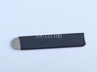 iğneler toptan satış-50 ADET Beyaz U Şekli 18 İğne Kalıcı Kaş Makyajı Için Manuel Microblading Bıçak Dövme Nakış Kalem
