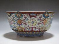 Wholesale Hand Painted Art Ceramics - China Famille Rose Porcelain Bowl Hand Painted Many flowers Bowl Qianlong mark