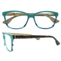 Wholesale Double Hinged - New arrival oval double color eyewear frame for men women spring hinge prescription designer eyeglasses frame