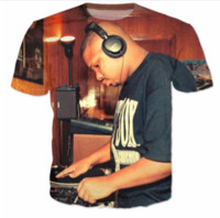 Summer Style Newest Fashion Mens / Womens Dj <b>Screw Funny</b> 3D Print Повседневная футболка ABCQ00178