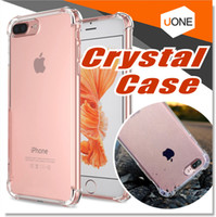 Wholesale Plastic Panels - For iPhone X 8 7 Plus Ultra Hybrid Case Crystal Clear Flexible TPU Case Hybrid Protective Shock Absorbing Bumper Cover with Clear Back Panel