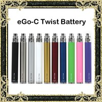 Wholesale Electronic Cigarette Ego Herb - eGo-C Twist Battery 650mAh 900mAh 1100mAh 1300mAh Batteries Electronic Cigarette Battery Variable Voltage Fit Dry Herb Wax Atomizers