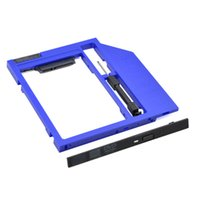 """Wholesale Usb Dvd Enclosure Case - Wholesale- New Arrival Blue 2nd HDD Caddy 9.5mm SATA 3.0 HDD Case Enclosure for Laptop CD DVD-ROM Optical Bay for 2.5"""" 7mm   9mm SSD"""