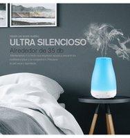 auto luz led china al por mayor-Humidificador ultrasónico Aromaterapia Difusor, Niebla fresca con color Luces LED Difusor de aceite esencial Sin agua Auto apagado