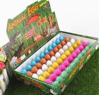 Wholesale Gadget Fun - BlACK 60pcs 2*3CM Magic Hatching Growing Dinosaur Add Water Grow Dino Egg Children Kid Fun Funny Toys Gift Gadget YH143