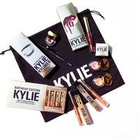 Wholesale Wholesale Holiday Wine Bags - Holiday Edition Kylie Cosmetic Limited Collection Kyshadow Palette matte lipstick makeup bag creme shadow Christmas gift Free Shipping