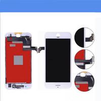 iphone сенсорный дигитайзер сенсорный полный оптовых-Для Black Grade A +++ ЖК-Дисплей С Сенсорным Дигитайзером Полный Экран с Рамкой Полная Замена Ассамблеи Для iPhone 7 iPhone 7 Plus