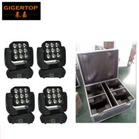 Wholesale Auto Washers - Flight Case 4in1 Pack 9X10W RGBW 4IN1 Led Beam Moving Wash Light Big Lens Audience Background Washer Light Auto Sound active DMX
