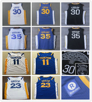 Wholesale Kevin Thompson - 2017 2018 New Basketball 30 Stephen Curry Jerseys Blue White Black 35 Kevin Durant 11 Klay Thompson 23 Draymond Green Jersey Shirt Stitched