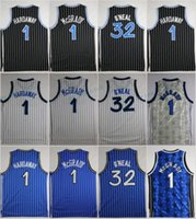 Wholesale Cheap Penny - Throwback Basketball Jerseys Retro 1 Tracy McGrady 32 Shaquille O'Neal 1 Penny Hardaway Shirts Stitched Basketball Jersey Cheap Mens S-XXL