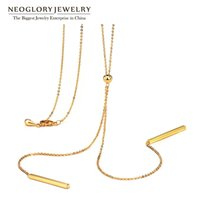 Wholesale Wholesaler For Long Maxi - Fashion Long Boho Maxi Gold Necklaces Pendants for Women Charm Statement Jewelry Gift Best Girl Friends 2016 New Neoglory