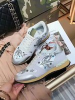 Hot Sell Brand Camouflage Original Box Casual Shoes Mulher Novo Designer Gold Pink Animal Prints Rivets Mesh Trainer Sneaker barato Red Size 41