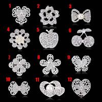 broşlar iğne düğün davetiyesi toptan satış-Düğün Davetiyesi için kristal Rhinestones Broşlar Kek Dekorasyon Broş Pins Buket Kiti inci iğneler rozeti moda takı 170733