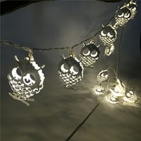Wholesale Led Garden Owl - 1.2M 10LED Creative Owl Animal String Fairy Light Christmas Bedroom Party Garden Home Decor Children Baby Gifts Battery Operated