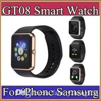 Wholesale Galaxy Platform - 50X GT08 SmartWatch Compatible Platform IOS Android With Pedometer Camera Monitoring Sleep Sedentary Reminder For iPhone Samsung Galaxy C-BS