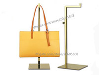 Wholesale Metal Shoe Stands - wholesale stainess steel handbag display stand bag holder stand rack adjustable metal handbag hanger, hooks for handbag free shipping 10pcs