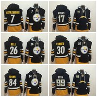 Wholesale Philip Rivers - 2017 NF Hoodies 17 Philip Rivers 7 Ben Roethlisberger 26 Le'Veon Bell 84 Antonio Brown 30 James Conner 99 Joey Bosa Hoodie Jerseys