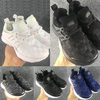 Wholesale toddler trainers - Kids Running Shoes Air Presto Children Running Shoes Boys Trainers Sports Sneakers Fashion grid Girls Toddler Walking Shoes Black Blue Gray