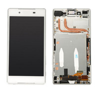 Wholesale Xperia Screen Replacement - White Black lcd display touch screen+digitizer replacement part+frame full assembly For Sony Xperia Z5 E6603 E6633 E6653 E6683