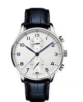 Wholesale Japanese Quartz Chronograph Movements - 2017 Luxury Watches Factory Supplier Sapphire Portuguese 46 Japanese Quartz Movement Chronograph White Dial Mens Men's Watch Watches
