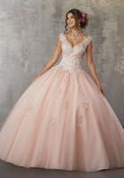 длина пола double v neck оптовых-2019 двойные ремни с V-образным вырезом Quinceaneara платья бальное платье vestidos de quinceanera замочную скважину назад сладкие 16 платьев длиной до пола