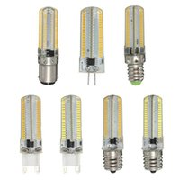 Wholesale Dimmable Candle Corn - High Power 152LEDs SMD 3014 Led Lights G4 G9 E12 E14 15W Dimmable Led Corn Lights Bulbs Lamps High Lumens AC 110-240V light lighting