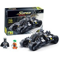 Wholesale Decool Super Heroes - Decool 7105 DC Super Heroes Batman The Tumbler building Block Brick tank Toys for children Boy Game Gift Compatible Lepin Bela