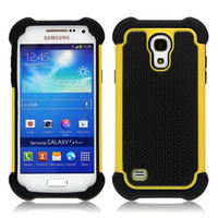 Wholesale S4 Mini Case Protective - Shockproof Hybrid Hard Case For Samsung Galaxy S4 mini Heavy Duty Rugged Rubber Silicone Plastic Protective Phone Case Cover 11Colors
