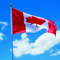 Wholesale Canadian Flags - Canada National Flag Red White Canadian 90*150cm Flags A Maple Leaves Banner Polyester Hanging Canadian Banner Flags OOA1926