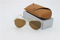 Wholesale Green Tea Men - lot wholesale Price designer Mans sunglasses Glod frame Tea Mix order men Womans Sunglasses brand sun glass Come Box