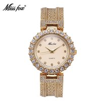 MISS FOX Ladies Watch Fashion Casual Marque Steel Mesh Gold Quartz Chine Montres Waterproof Simple Chinese Import Wrist Watch