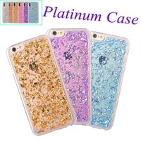 Wholesale Glitter Iphone Phone Cases - Gold foil glitter phone case soft tpu shockproof luxury bling protective back cover for iPhone X 6 6s 7 8 Plus Note 8