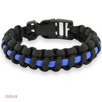 occident sports christianity - Thin Blue Line Police Paracord Survival Bracelets Sports Christ Christianity Friendship Bracelets Outdoor Camping