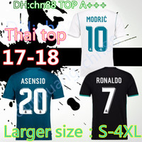 Wholesale H Shirts - 2017 2018 adult Real madrid Black soccer Jerseys 1718 RONALDO JAMES BALE RAMOS ISCO MODRIC football shirt Thailand Quality2017 Real Madrid h