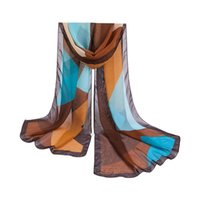 Wholesale Thin Scarf Men - Wholesale- Fashion Spring Summer Women Accessories Chiffon Scarf Geometric Thin Shawl Girl's Beach Sunscreen