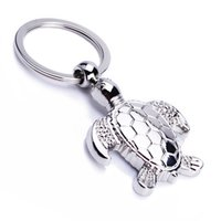 Wholesale Birthday Ring Ornaments - 20pcs lot Sea Turtle Shaped Keychain Cute Ornaments Arts and Crafts Key Ring for birthday gift