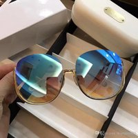 Wholesale Face Sunglass - CE125S Fashion Sunglass Women Brand Cat Eye Deisnger Half Frame Uv400 Lens Summer Style Adumbral Butterfly Design Mixed Big Face With Case