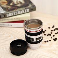 Wholesale Tea Vacuum Cup - Fashion Camera Lens Coffee Cup Stainless Steel Cups Creative Style Design Tea Travel Mug Vacuum Bottle