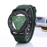 Wholesale Skull Fashion Glasses - Fashion nylon hollow skull triangle mens men watch 2017 new wholesale men roma dial sport army quartz wrist watches for men