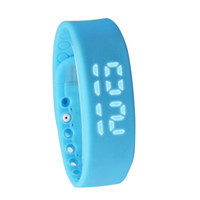Wholesale Material Wristbands - Simple and Stylish Smart Wristbands Silicone Material Waterproof Charging Watch USB Multifunctional 3D Pedometer Smart Bracelet - Blue