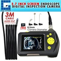 Wholesale Handheld Video Inspection - END-23_8.2mm_3M 8.2mm Digital Waterproof Handheld Endoscope with 3 Meter Cable 2.7 inch Screen Monitor Digital Inspection Camera System