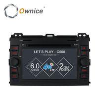 Wholesale Mp4 Touch Screen 16gb - Ownice C500 Android 6.0 quad Core Car DVD player For Toyota Prado 120 2002 - 2009 GPS RADIO 4G SIM LTE GPS 2GB RAM 16GB ROM