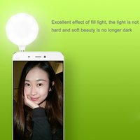 All'ingrosso-Originale Xiaomi mini notte usando la luce istantanea selfie 9 Circolare LED per iPhone smartphone Android Tablet PC 3.5mm Port
