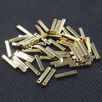Wholesale Small Craft Charms - Gold Plated Small Bar Pendants For Jewelry Making Craft Supplies Wholesale Charms YHA-293-12