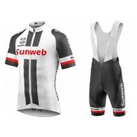 Wholesale Uci Bib Cycling - 2017 uci pro tour team sunweb liv cycling jersey short sleeve Bicycle ropa ciclismo men summer bike cloth bib pants gel pad